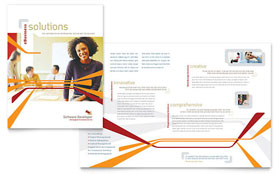 Software Developer - Desktop Publishing Brochure Template
