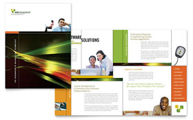 Internet Software - Brochure Sample Template