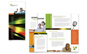 Internet Software - Brochure Template Design Sample