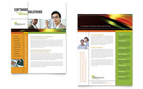Internet Software - Sales Sheet Template