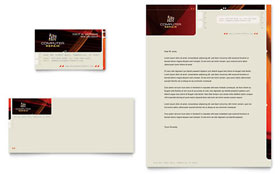 Computer Repair - Business Card & Letterhead Template Design Sample