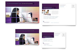 Information Technology Consultants - Postcard Template Design Sample