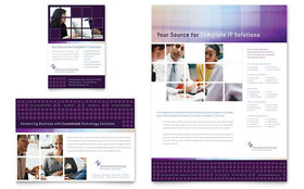 Information Technology Consultants - Print Ad Template
