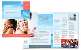 Communications Company - Adobe Illustrator Brochure Template