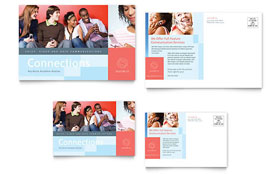 Communications Company - Postcard Sample Template