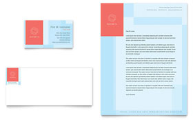 Communications Company - Business Card & Letterhead Template Design Sample