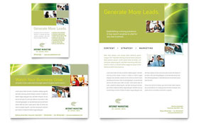 Internet Marketing - Flyer & Ad Template Design Sample