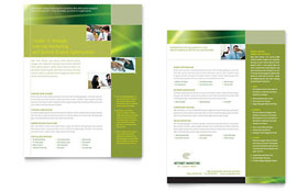 Internet Marketing - Datasheet Sample Template