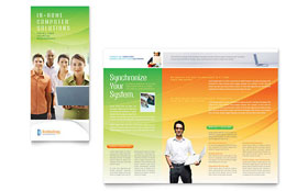 Computer & IT Services - Tri Fold Brochure Sample Template