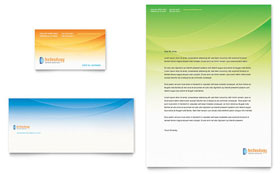 Computer & IT Services - Business Card & Letterhead Template Design Sample