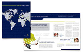 Global Communications Company - Brochure Template Design Sample
