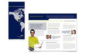Global Communications Company - CorelDRAW Brochure Template