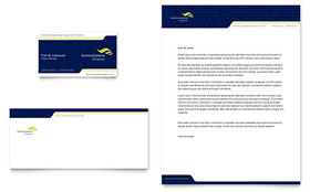 Global Communications Company - Business Card & Letterhead Template