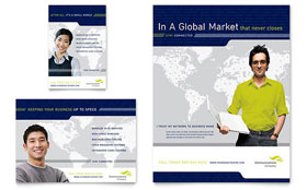 Global Communications Company - Flyer & Ad Template Design Sample