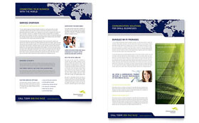 Global Communications Company - Datasheet Template Design Sample