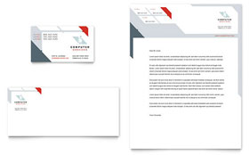 Computer Solutions - Business Card & Letterhead Template Design Sample