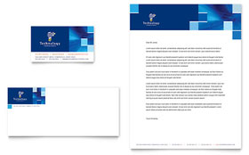 Technology Consulting & IT - Business Card & Letterhead Template Design Sample