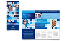 Technology Consulting & IT - Adobe Illustrator Tri Fold Brochure Template