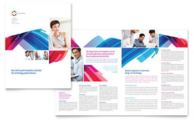 Software Solutions - Microsoft Word Brochure Template