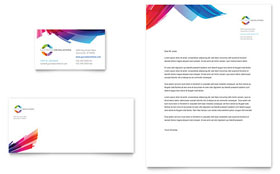 Software Solutions - Business Card & Letterhead Template Design Sample
