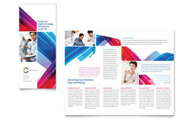 Software Solutions - Microsoft Word Tri Fold Brochure Template