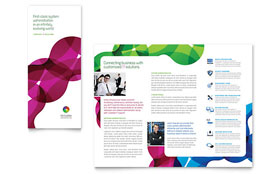 Network Administration - Tri Fold Brochure - Adobe Illustrator Template Design Sample