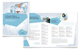 Global Network Services - Adobe Illustrator Brochure Template