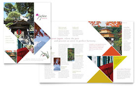 Japan Travel - Brochure Template Design Sample