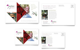 Japan Travel - Postcard Template Design Sample