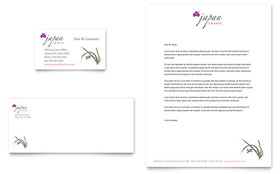 Japan Travel - Business Card & Letterhead Template Design Sample