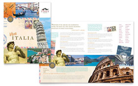 Italy Travel - Adobe Illustrator Brochure Template