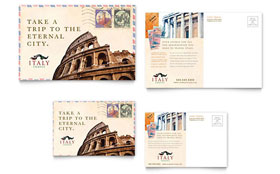 Italy Travel - Postcard Template