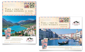 Italy Travel - Poster Template Design Sample
