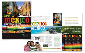 Mexico Travel - Adobe InDesign Brochure Template