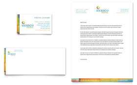Mexico Travel - Business Card & Letterhead Template