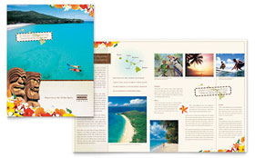 Hawaii Travel Vacation - Brochure Template Design Sample