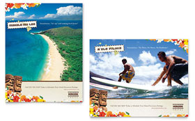 Hawaii Travel Vacation - Poster Template Design Sample