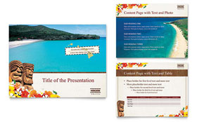 Hawaii Travel Vacation - PowerPoint Presentation Template Design Sample