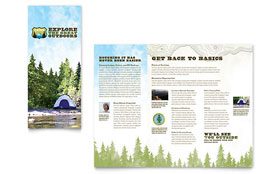 Nature Camping & Hiking - Tri Fold Brochure Template