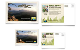 Nature Camping & Hiking - Postcard Sample Template