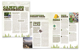 Nature Camping & Hiking - Newsletter Template Design Sample