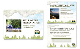 Nature Camping & Hiking - PowerPoint Presentation Sample Template