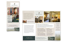 Bed & Breakfast Motel - Tri Fold Brochure Template Design Sample