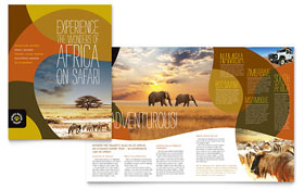 African Safari - Brochure Template Design Sample