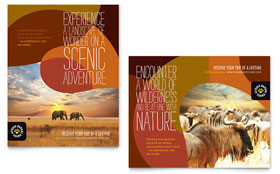 African Safari - Poster Template Design Sample