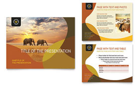African Safari - PowerPoint Presentation Template Design Sample
