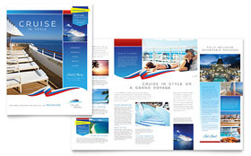 Cruise Travel - Brochure - Microsoft Word Template Design Sample