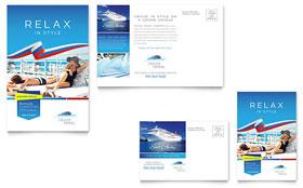 Cruise Travel - Postcard Sample Template