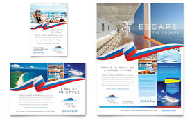 Cruise Travel - Print Ad Template Design Sample