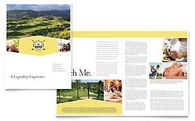 Golf Resort - Adobe InDesign Brochure Template